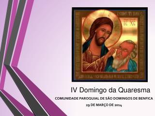 IV Domingo da Quaresma