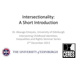 Intersectionality :  A Short Introduction