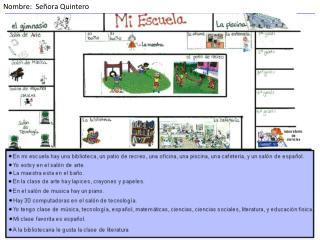 Nombre :   Señora  Quintero