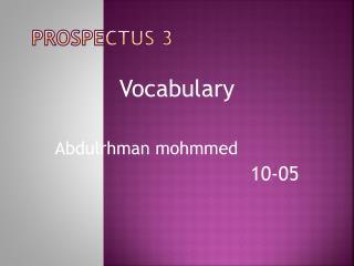 Prospectus 3