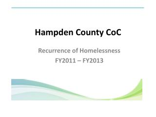 Hampden County  CoC