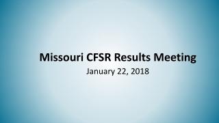 CFSR Outcome Goals