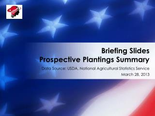 Briefing Slides Prospective Plantings Summary