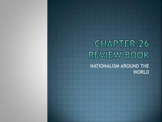 CHAPTER 26 review book