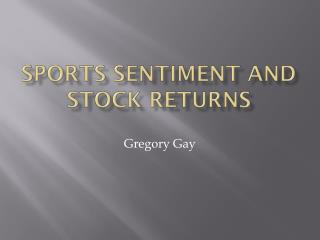Sports Sentiment and stock returns
