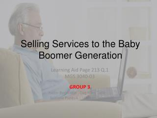 Selling Services to the Baby Boomer Generation