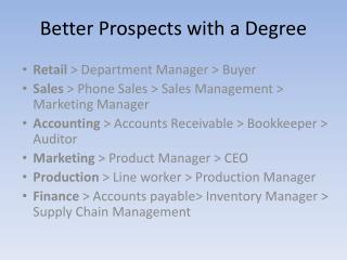 Better Prospects with a Degree