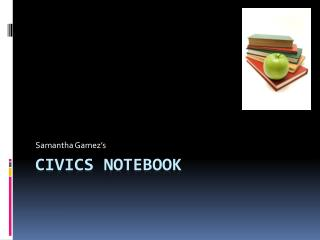 Civics Notebook