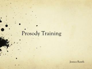 Prosody Training