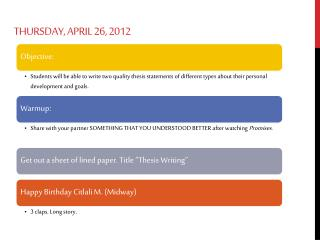 Thursday, April 26, 2012