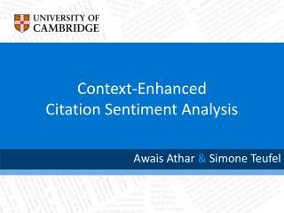 Context-Enhanced Citation Sentiment Analysis
