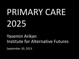 PRIMARY CARE  2025