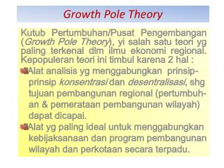 Growth Pole Theory