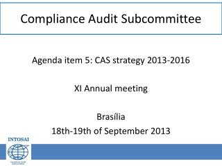 Compliance Audit Subcommittee