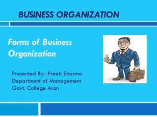 Business Organization