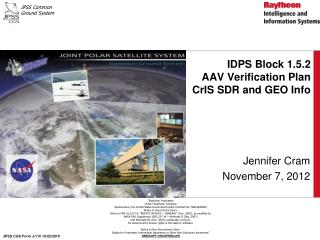 IDPS Block 1.5.2  AAV Verification Plan CrIS SDR and GEO Info