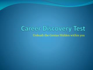 Career Discovery Test