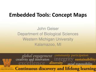 Embedded Tools: Concept Maps