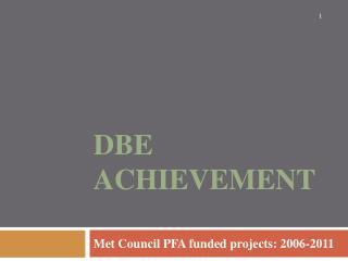 DBE Achievement