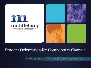 Student Orientation for Competency Courses