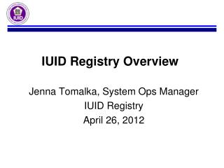 IUID Registry Overview