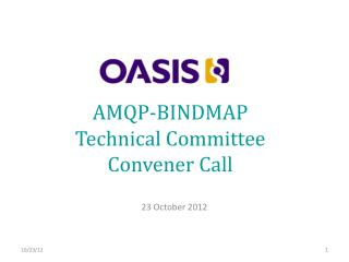 AMQP-BINDMAP  Technical Committee Convener Call