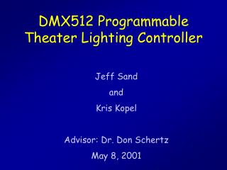 DMX512 Programmable Theater Lighting Controller