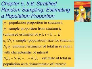 Chapter 5, 5.6: Stratified Random Sampling: Estimating a Population Proportion