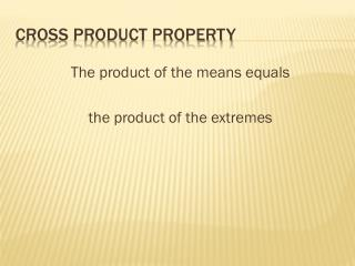Cross product property