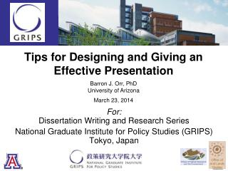 Tips for Designing and Giving an Effective  Presentation