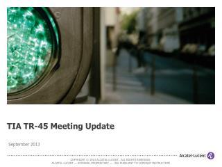 TIA TR-45 Meeting Update
