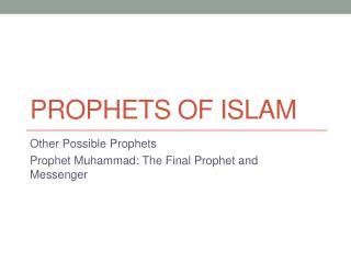 Prophets of Islam