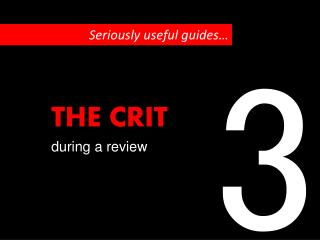 S eriously useful guides…