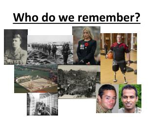 Who do we remember?