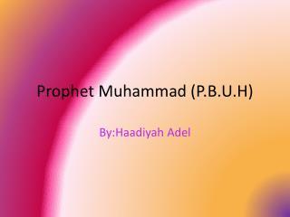 Prophet Muhammad (P.B.U.H)