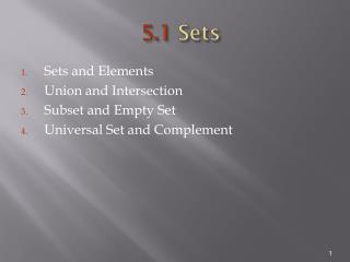 5.1  Sets