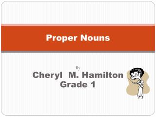 Proper Nouns