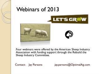 Webinars of 2013