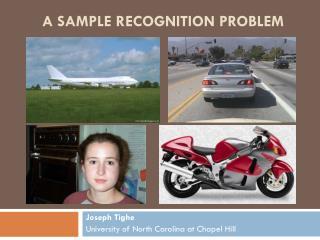 A Sample Recognition Problem