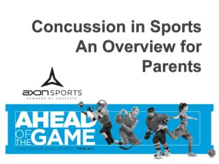 Concussion in Sports An Overview for Parents