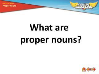 What are proper nouns?