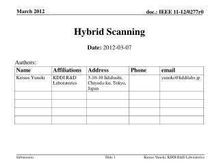 Hybrid Scanning
