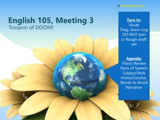 English 105, Meeting 3