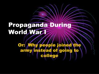 Propaganda During World War I