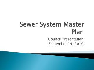 Sewer System Master Plan