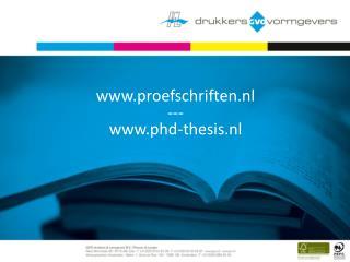 proefschriften.nl --- phd-thesis.nl
