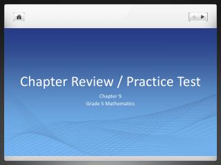 Chapter Review / Practice Test
