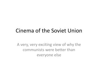Cinema of the Soviet Union