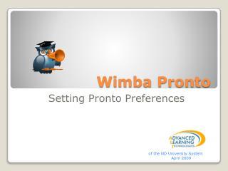 Wimba Pronto