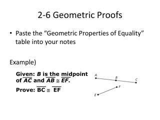 2-6 Geometric Proofs